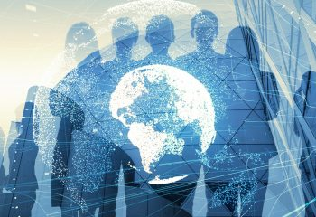 Global,Business,Concept.,Silhouette,Of,Business,People.